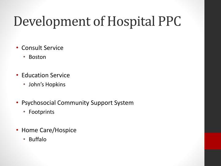 Development of Hospital PPC