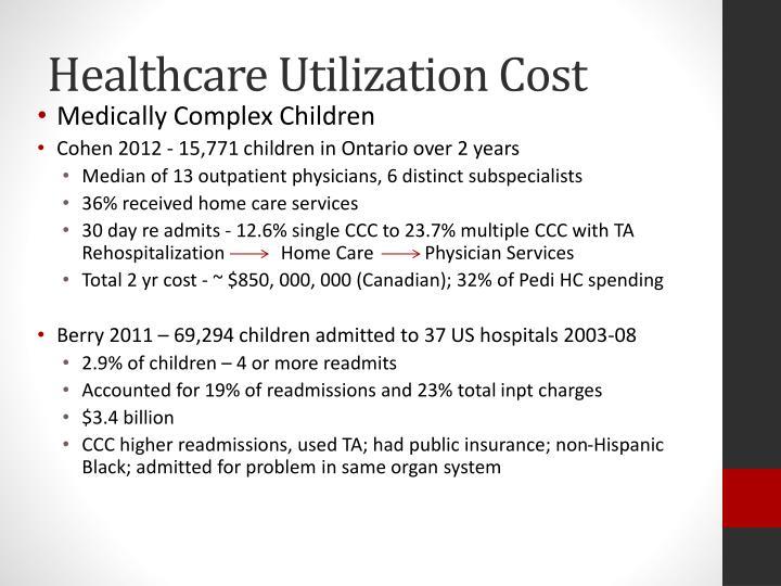 Healthcare Utilization Cost