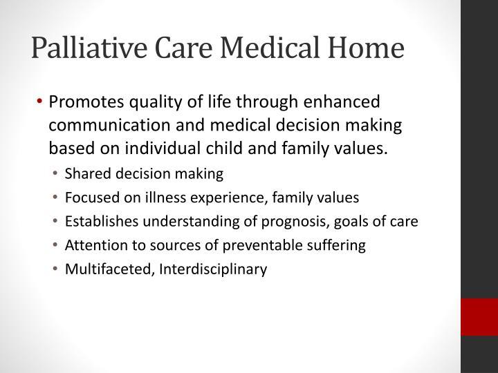 Palliative Care Medical Home