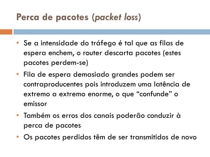Perca de pacotes (