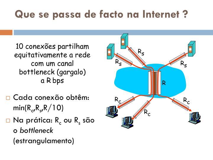 Que se passa de facto na Internet ?
