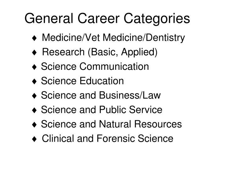 General career categories