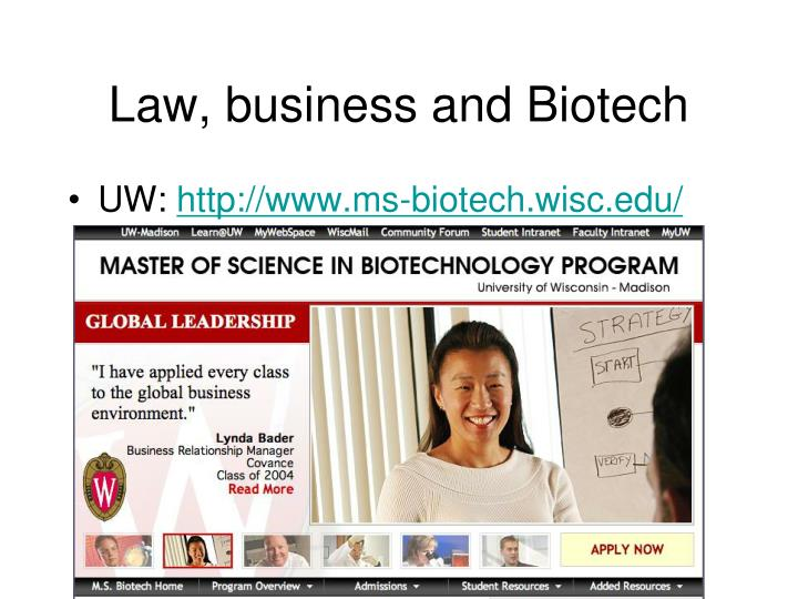Law, business and Biotech