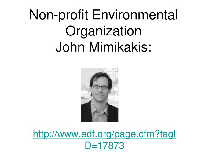Non-profit Environmental Organization