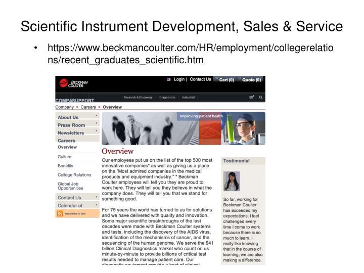 Scientific Instrument Development, Sales & Service