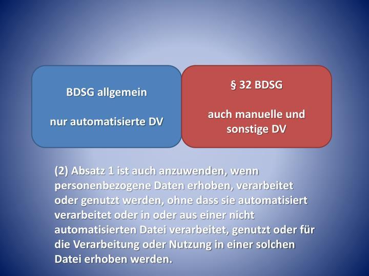 BDSG allgemein
