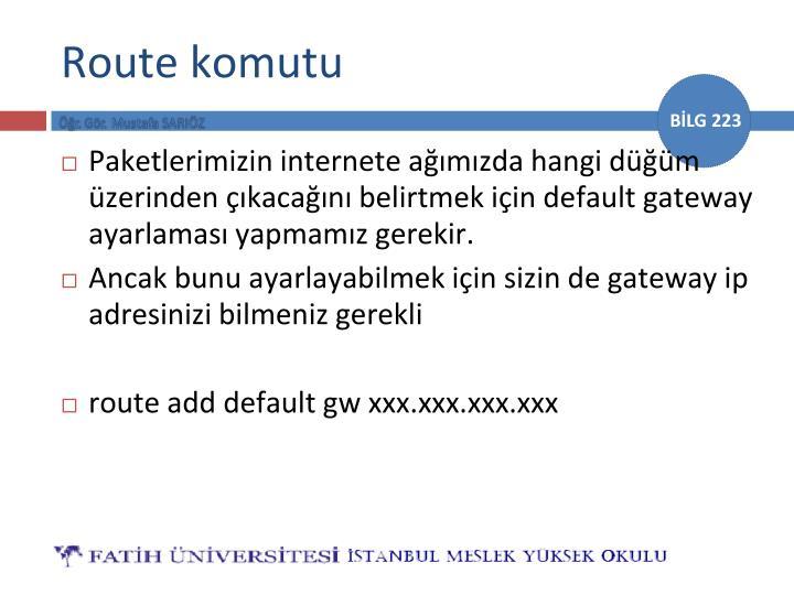 Route komutu