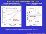 hcho yields from isoprene oxidation