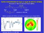 rapid conversion of hg 0 to hg ii in arctic spring observation of mercury depletion events mdes