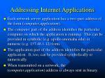 addressing internet applications