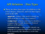 api definition data types