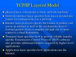 tcp ip layered model