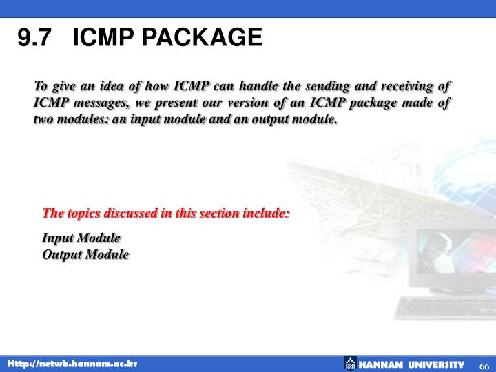 9.7   ICMP PACKAGE