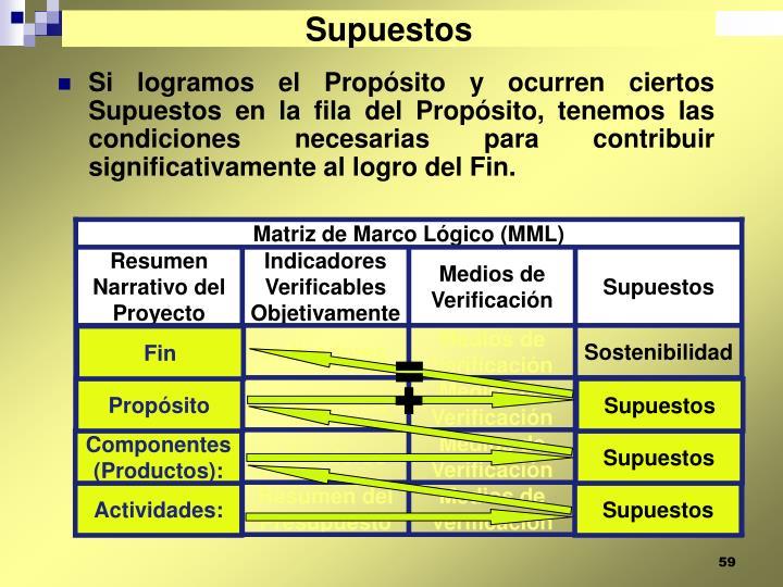 Matriz de Marco Lógico (MML)