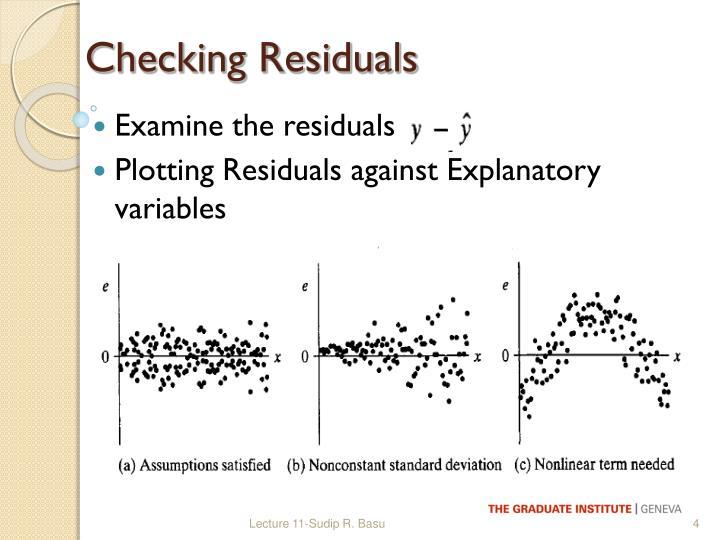 Checking Residuals