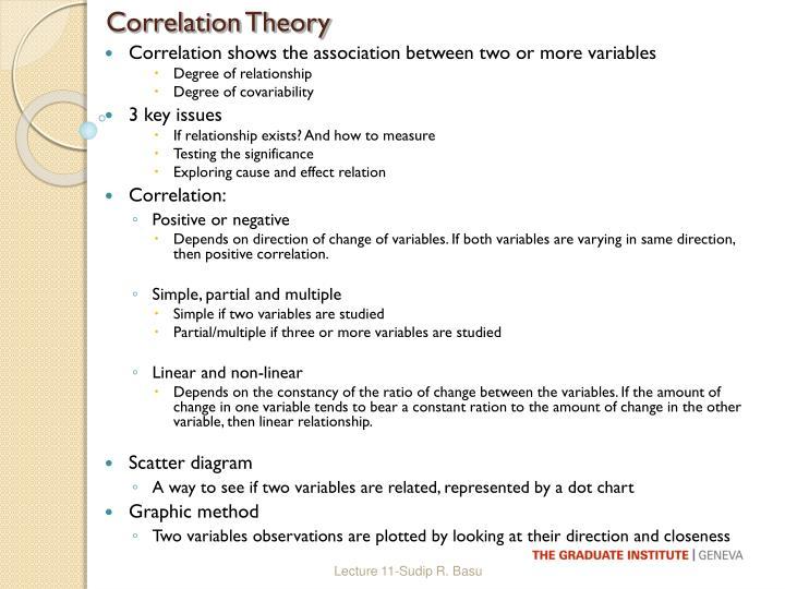 Correlation Theory