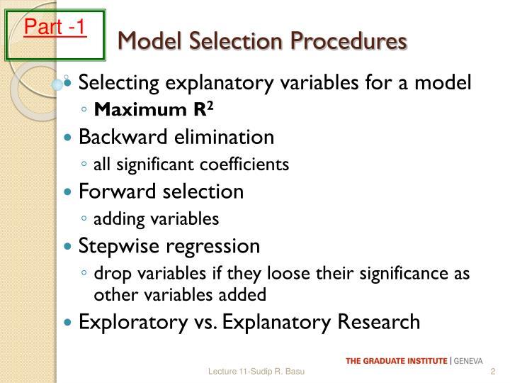 Model selection procedures