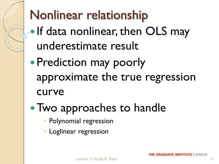 Nonlinear relationship