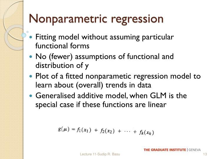 Nonparametric regression