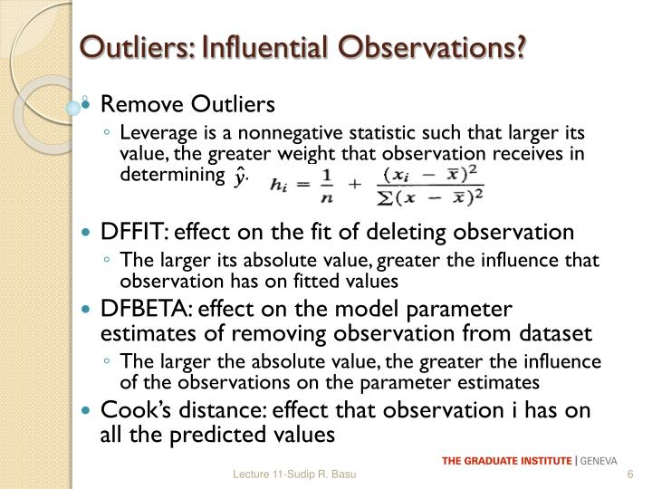 Outliers: Influential Observations?