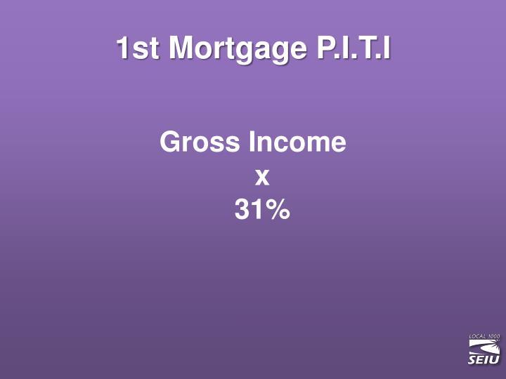 1st Mortgage P.I.T.I