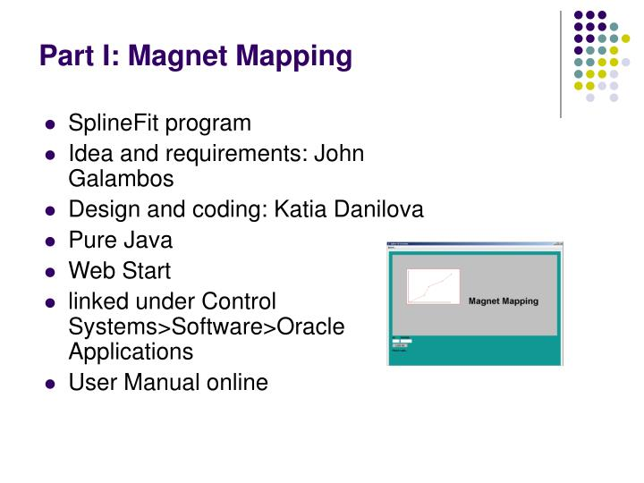 Part i magnet mapping