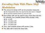 encoding data with phase shift modulation