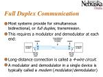 full duplex communication
