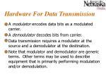 hardware for data transmission