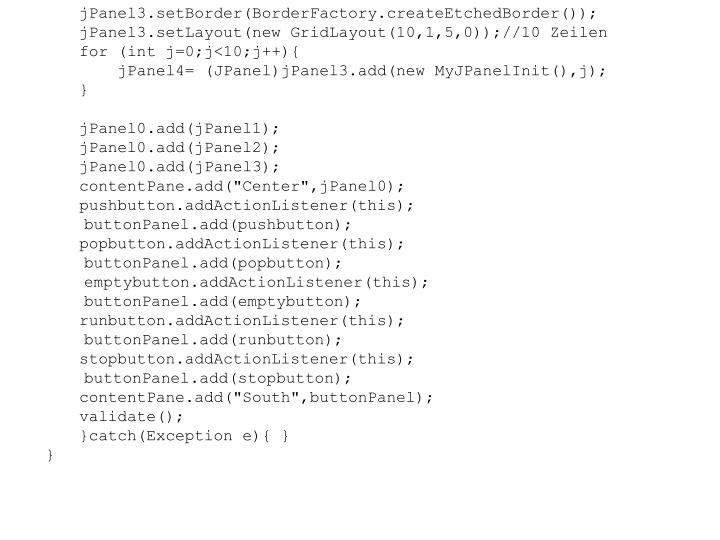 jPanel3.setBorder(BorderFactory.createEtchedBorder());
