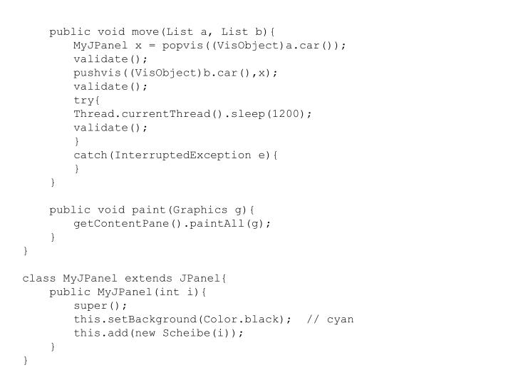 public void move(List a, List b){