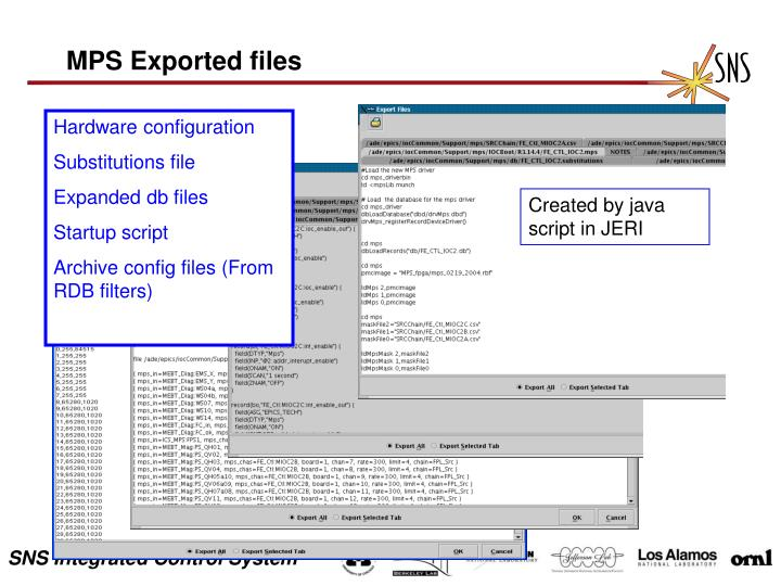 MPS Exported files