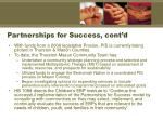 partnerships for success cont d