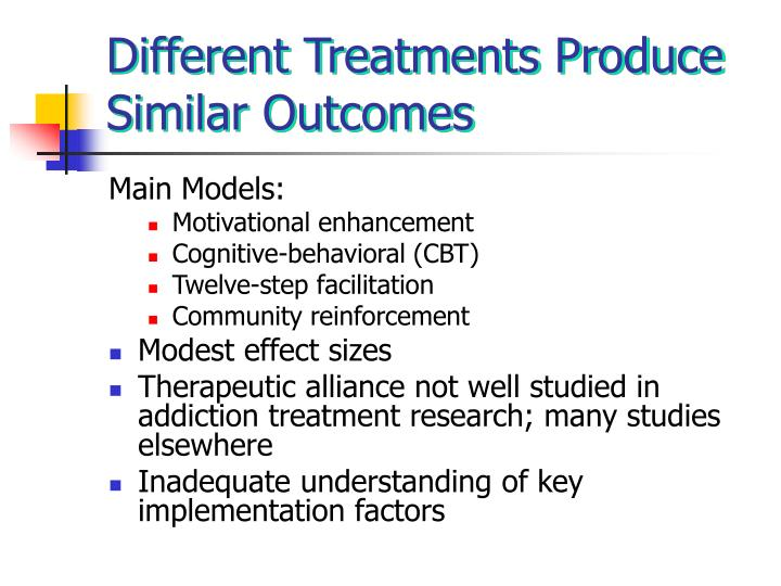 Different Treatments Produce Similar Outcomes