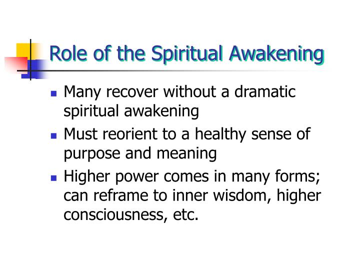 Role of the Spiritual Awakening