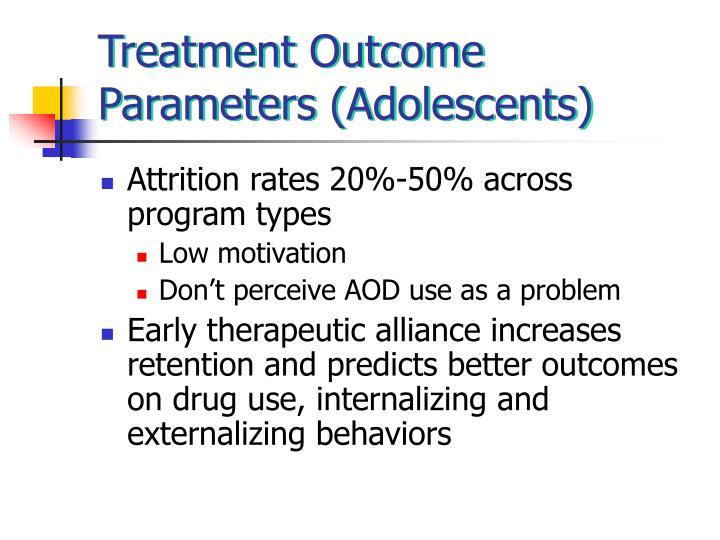Treatment Outcome Parameters (Adolescents)