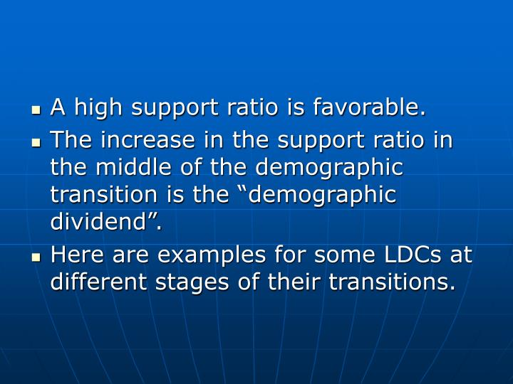 A high support ratio is favorable.