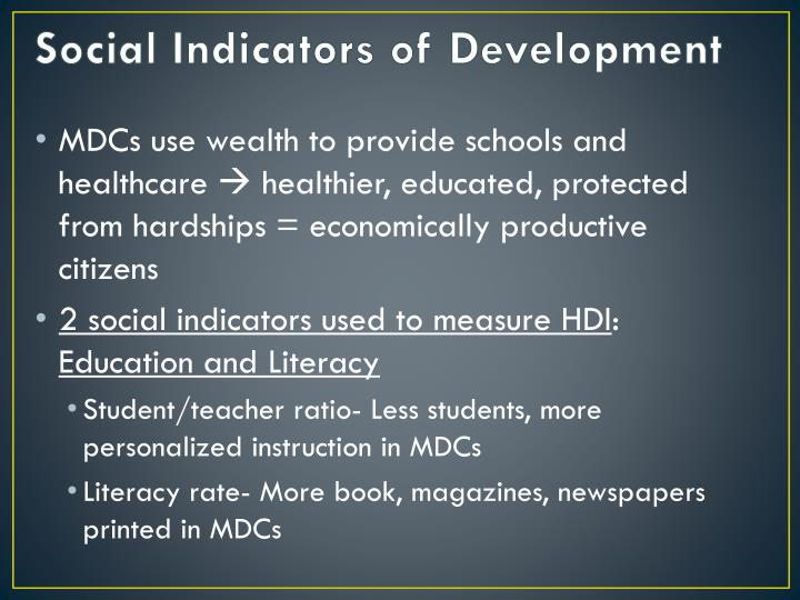 Social Indicators of Development