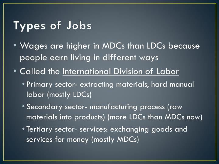 Types of Jobs