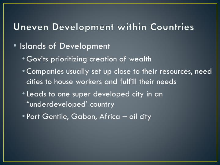 Uneven Development within Countries