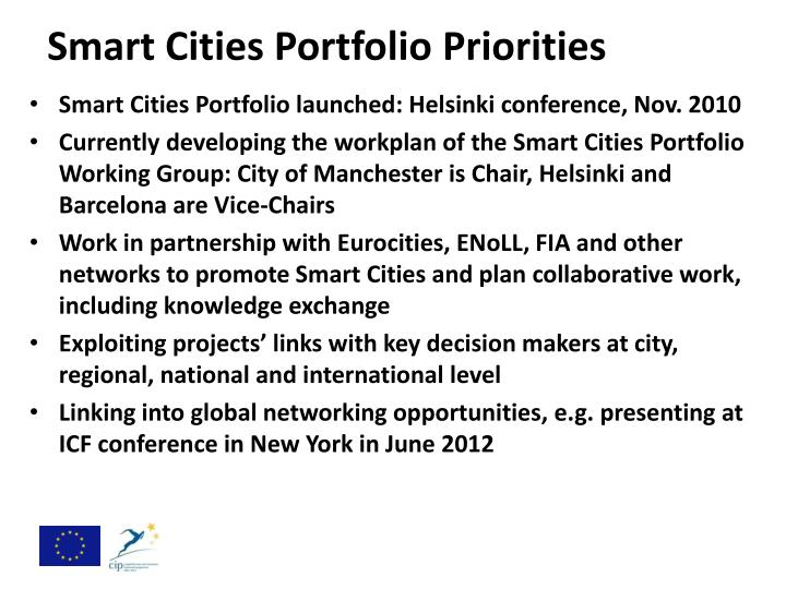 Smart Cities Portfolio Priorities