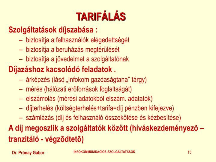 TARIFÁLÁS