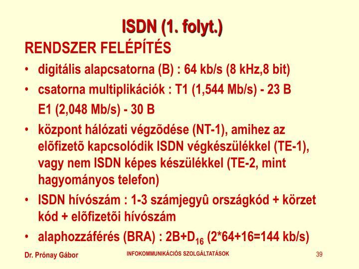 ISDN (1. folyt.)