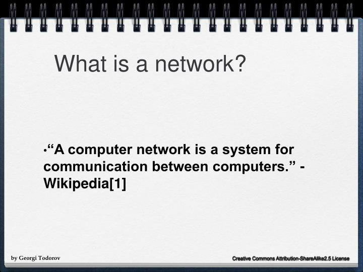 What is a network