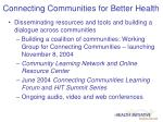 connecting communities for better health2