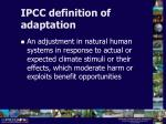 ipcc definition of adaptation