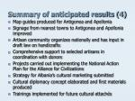 summary of anticipated results 4