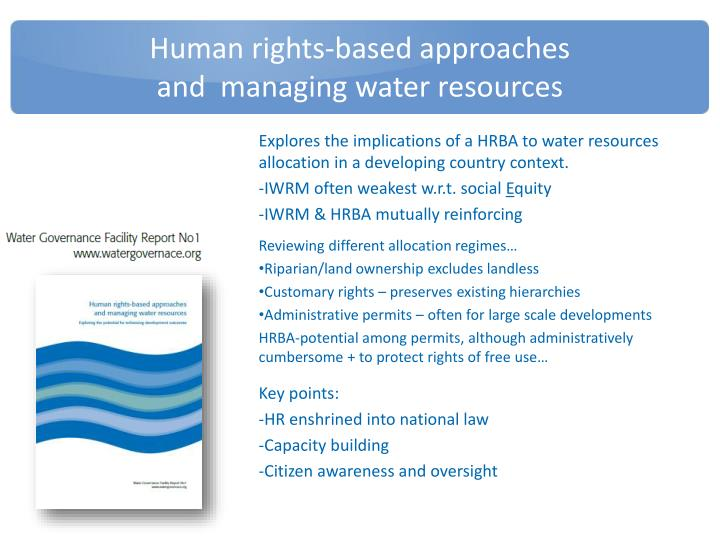 Human rights-based approaches