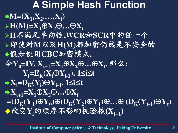 A Simple Hash Function