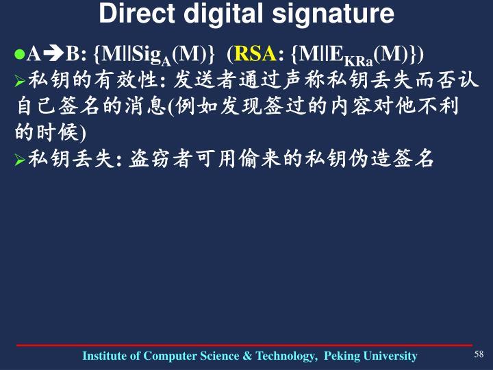 Direct digital signature